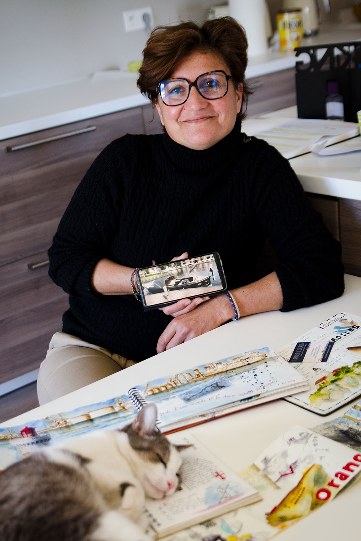 Christel MONTAUBAN Carnet d'escale à Aigues-mortes, stage d'aquarelle et de carnets de voyages